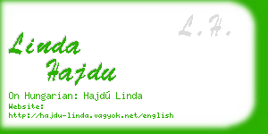 linda hajdu business card